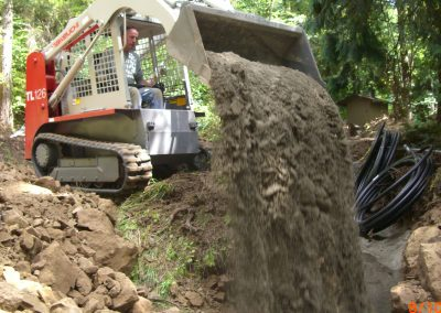 Backfilling with Takeuchi Loader || Cascade Dozing