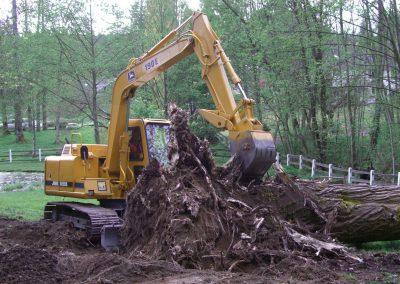 Cotton wood logs removal  || Jim Agnew || Cascade Dozing
