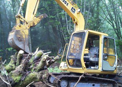 Clearing with John Deere 190E || Cascade Dozing